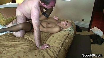 Hot German Escort Fuck old Man in Hotel for Money