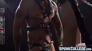 Gay master dominant Gay sex slave anally slammed by his kinky master