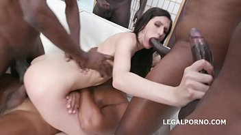 5on1 Interracial Balls Deep with Lina Arian Balls Deep Anal, DP, DAP, Gapes, Intense Action, Creampie & Facial GL080