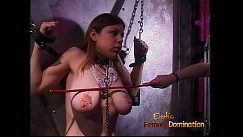 Adult fiction female domination Stunning babe gags on toys and has her boobs covered in wax