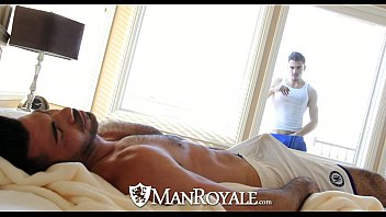 Fucking gay gay man man Manroyale - peeping stud gets fucked by a daddy