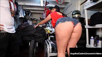 Massive Titty BBW Angelina Castro Sucks Off Hard Mechanic!