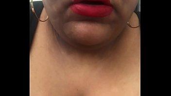 Red Lipped Bbw smoking