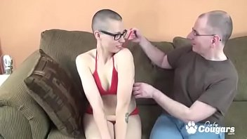 Teen With A Shaved Head Gets Nailed From Behind