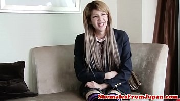 Tranny Schoolgirl Drilled In Missionary Pose