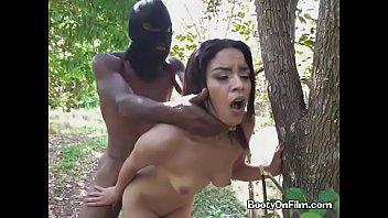 Ebony Slut Maya Bijou Gets Impaled By Robber