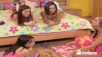 Lesbian Orgy Breaks Out At A Teen Slumber Party