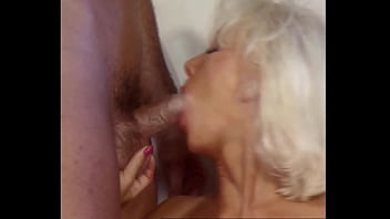 Beautiful Blond Anal Bitch Helen Duval takes Big Black Cock DP's