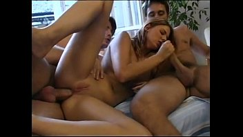Ashlynn group fuck free video Double fuck