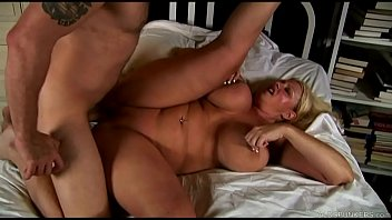 Beautiful big tits blonde old spunker enjoys a sticky facial cumshot