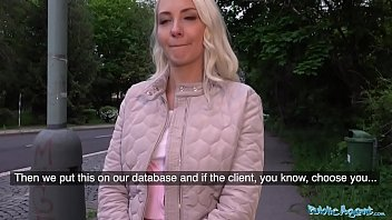 Public Agent Horny tourist Helena Moeller is hungry for Czech cock