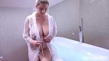 Busty Pregnant Katerina Hartlova Rubs Her Clit in the Bathtub!