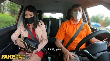 Fake Driving School Lady Dee Sucks Instructors Disinfected Burning Cock