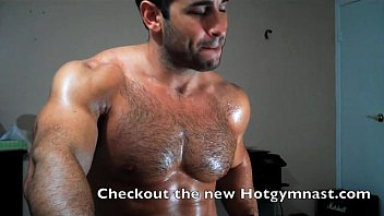naked stud muscle Hairy chest