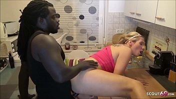 Girlfriend Tatjana Young Cheat with Huge Black Cock Neigbour while BF Sleep next room German