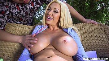 This Slutty Blonde Has Massive Tits