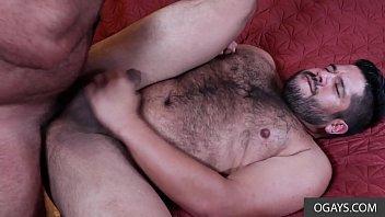 Two papa bears finding their hard dicks