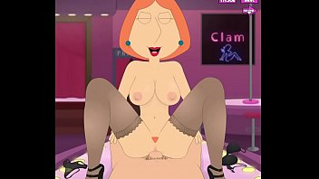 Lois Griffin big tits bounce while riding cock