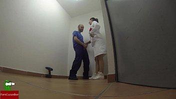 Nurse eating cock