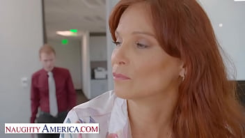 Naughty America - Syren De Mer gets hard cock at the office