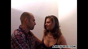 Amateur girlfriend with big tits facial shot