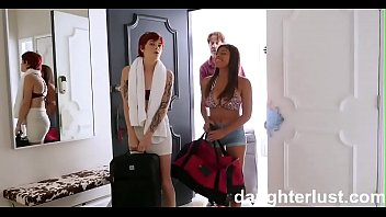 Hot Teens Swap & Fuck Dads On Vacation |DaughterLust.com