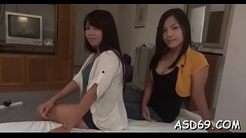 Cute asian sex doll gets her mouth fucked by a concupiscent boy