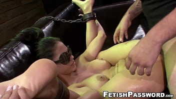 Innocent Jasmine Caro dominated with sex machine and big dick