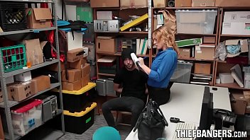 Young Male Thief Fucked By Hot Busty LP Officer Krissy Lynn