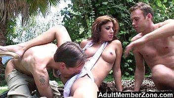 AdultMemberZone - Latina Hottie Sativa Rose Gets Spitroasted Outdoors