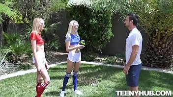 Charlotte Sins, Kenna James Stepsister Football Fuckers
