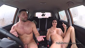 Big tits examiner fucks muscled guy