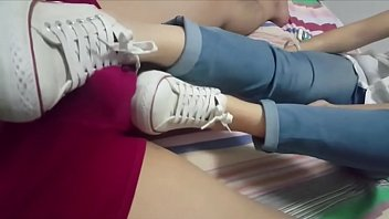 Chinese Girl White Converse Footjob