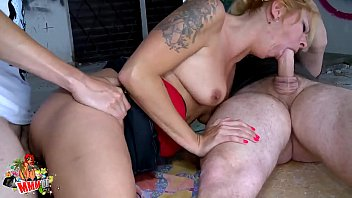 Milf double fuck Hot blonde milf hard fucking and double penetration