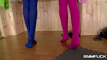 Gym Fuck Shows Leggy Lesbians Ivana Sugar & Cherry Kiss Fill Shaved Pinks