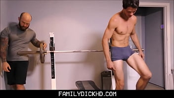 Father son gay relationships Bear father and jock son workout fuck
