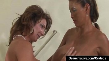 Horny Cougar Deauxma & GF Minka Banged & Jizzed On By Hubby!