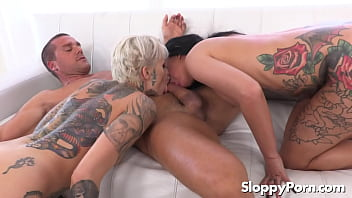 Tattooed squirting sluts Lily Lane & Leigh Raven