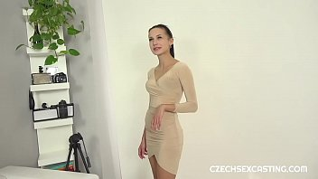 Fit brunette gets some casting action