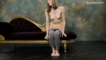 Super hot naked gymnastics with Klara Lookova