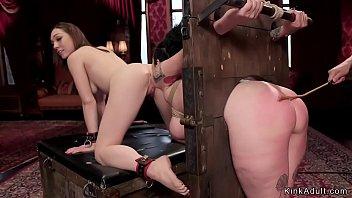 Huge tits slave gets big ass caned