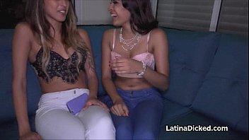 Latina besties making hot sex tape