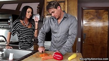 Naughty America Jessica Jaymes Fucking In The Counter With Her Piercings