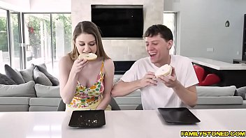 Stepmom supervising stepson as he fucks Bunny Colby doggystyle