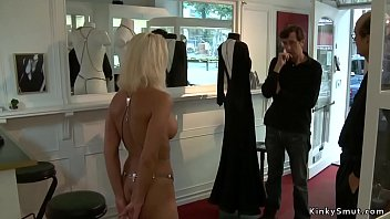 Blonde is fucked and public disgraced