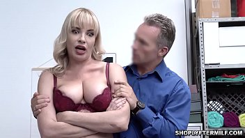 Blonde milf with big tits Dana Dearmond gets a hard fuck from the LP Officer
