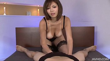 Blow job chiang mai - Sexy tanned mai kuroki in bed playing with a horny guys cock making him cum