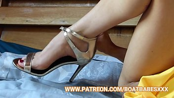BoatBabesXXX - Foot Fetish With Sapphire Blue - Let Me Rub Your Twitching Cock Between My Toes