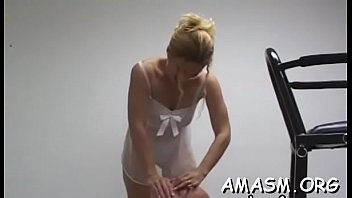 Delightsome women enduring femdom act in home video