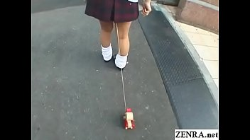 Bizarre JAV enema walk of shame for schoolgirl Subtitles video